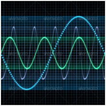 digital oscilloscope waves